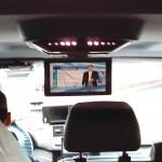 TelematikTeam: Multimedia-Overhead-Display (für Werbe-DVD) im Mercedes-Benz Taxi Vito/Viano
